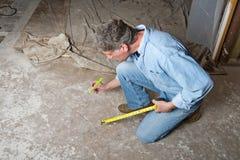 Контрактор разнорабочего, человек, рабочий-строитель стоковое фото rf