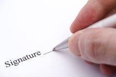 Контракт готовый для подписи Стоковое Изображение