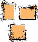 контраст бабочки орнаментирует овощ против Стоковое Изображение