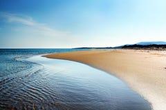 контраст пляжа Стоковая Фотография