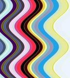 Контраст развевает линии в пастельных оттенках Стоковое Изображение