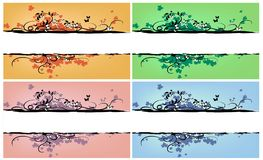 контраст цвета знамен Стоковая Фотография RF
