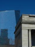 Контраст Arquitectural новый и старый Стоковое Изображение