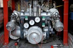 контролирует воду насоса firetruck Стоковое Изображение RF