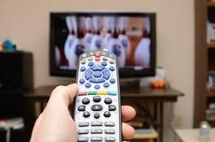 контролируйте дистанционный tv Стоковое Фото