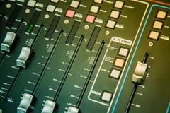 контролируйте звук смесителя Стоковые Изображения RF