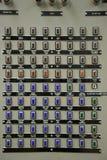 контролируйте комнату силы ядерной установки стоковые изображения