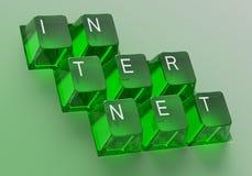 контролируйте панель ключей интернета Стоковое Фото
