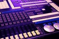 контролируйте панель нот смесителя dj Стоковое Фото