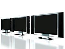 контролируйте плазму tv офиса иллюстрация вектора