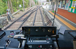 контролируйте поезд Стоковое Изображение