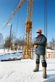 контролируйте работника башни оборудования крана дистанционного Стоковые Фото
