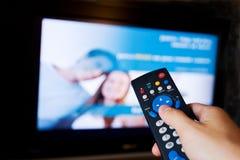 контролируйте дистанционный tv Стоковое фото RF