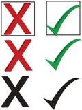 контрольная пометка x Стоковые Фотографии RF