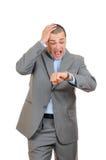 контрольное время бизнесмена Стоковая Фотография RF