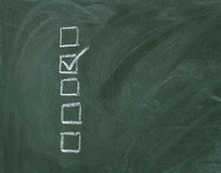 контрольный списоок chalkboard стоковые изображения