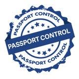 Контрольный штемпель паспортного контроля Знак уплотнение Стоковое Фото