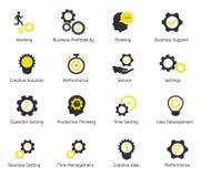 Контроль времени и значки вектора CEO (главный исполнительный директор) Стоковая Фотография RF
