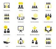 Контроль времени и значки вектора CEO (главный исполнительный директор) Стоковое Изображение