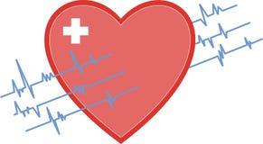контроль иллюстрации сердца acg стоковые фото