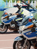 Контролеры дорожной полиции на мотоциклах BMW Стоковые Изображения