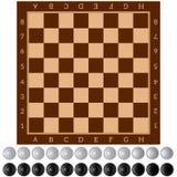 контролеры Старая интеллектуальная настольная игра почерните ответную часть потери highlight игры конца шахмат проверки дела доск иллюстрация вектора