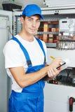Контролер работника электрика Стоковая Фотография RF