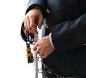 Контролер студента финансовой полиции с шпагой и формой Стоковые Изображения RF