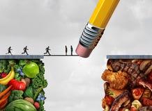 Контролируйте заманчивость еды иллюстрация штока