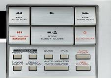 Контролируйте оборудование кнопок звуковое Стоковые Фото