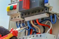 контролируйте электрическую панель Стоковое Фото