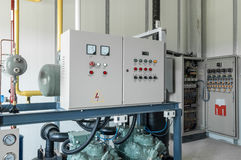 Контрольная панель для компрессора Стоковое Изображение RF