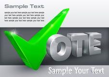 Контрольная пометка голосования на сером цвете Стоковые Изображения