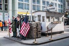 Контрольно-пропускной пункт Чарли, Берлин Стоковое Изображение