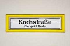Контрольно-пропускной пункт Чарли Kochstrasse, Берлин Германия Стоковые Изображения RF