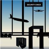 Контрольный пункт проверки безопасности собрания багажа Стоковые Изображения RF