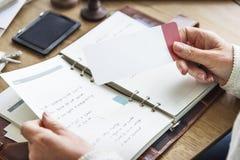 Контрольный списоок назначения планируя личную концепцию организатора стоковые изображения