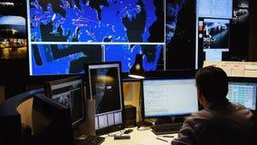Контрольный центр контроля над трафиком воды акции видеоматериалы