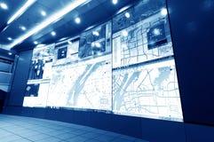 Контрольный центр контроля над трафиком Стоковое Изображение