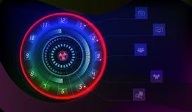 Контроль времени Технология шкалы иллюстрация вектора