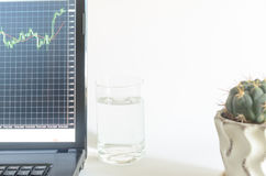 Контроль и анализ финансовой ситуации в валютном рынке Стоковые Изображения