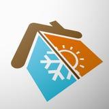 Контроль климата шток померанца иллюстрации предпосылки яркий Стоковое Изображение