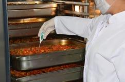 Контроль температуры ресторанного обслуживании Стоковые Фотографии RF