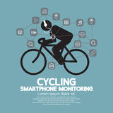 Контроль Smartphone здоровья и фитнеса Стоковое фото RF
