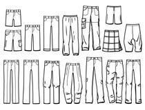 Контурит мужские брюки бесплатная иллюстрация