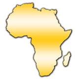 Контурная карта Африки Стоковые Изображения RF