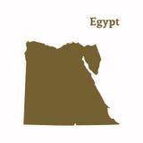 Контурная карта Египта Стоковое Изображение