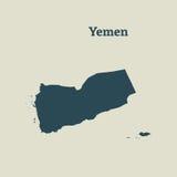 Контурная карта Йемена иллюстрация Стоковое Фото