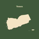 Контурная карта Йемена иллюстрация Стоковая Фотография