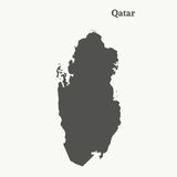 Контурная карта Катара иллюстрация Стоковые Изображения